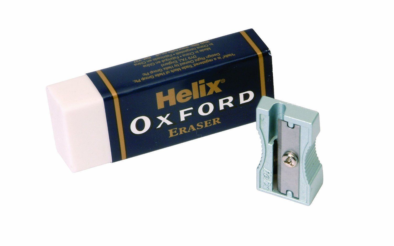 HELIX OXFORD JUMBO LARGE PLASTIC RUBBER ERASER SINGLE HOLE SHARPENER